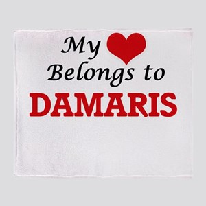 My heart belongs to Damaris Throw Blanket